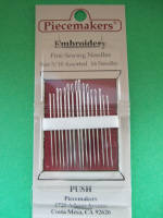 Piecemakers Embroidery Needles
